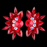 Euro Glam Earrings, Clip-On, Pierced or Pierced French Clip, Swarovski Light Siam and Crystal AB