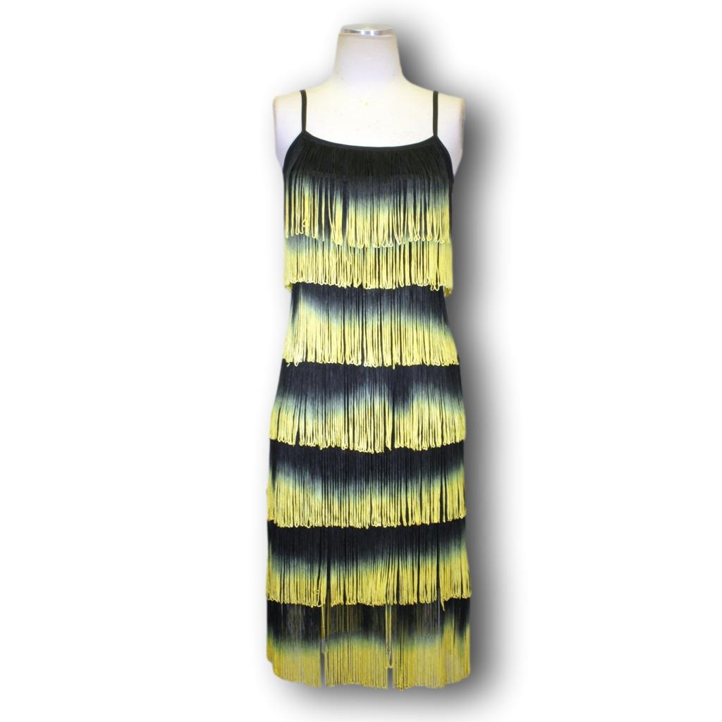 Women's Latin Practice Dress PL-198/2 Yellow