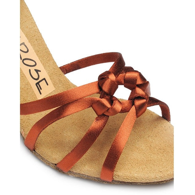 Ray Rose Latin Dance Shoes for Women, Model 820 Blizzard, Tan Satin
