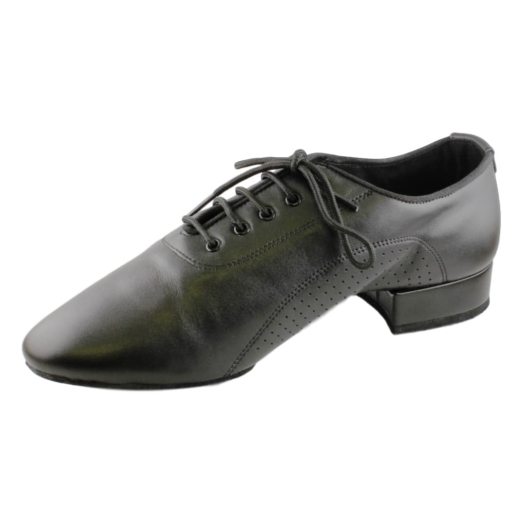 Stephanie American Smooth Dance Shoes for Men, Model E-400111, Black Leather