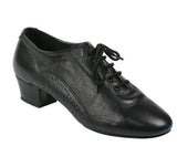 Latin Dance Shoes for Men, Model E-300111, Black Leather