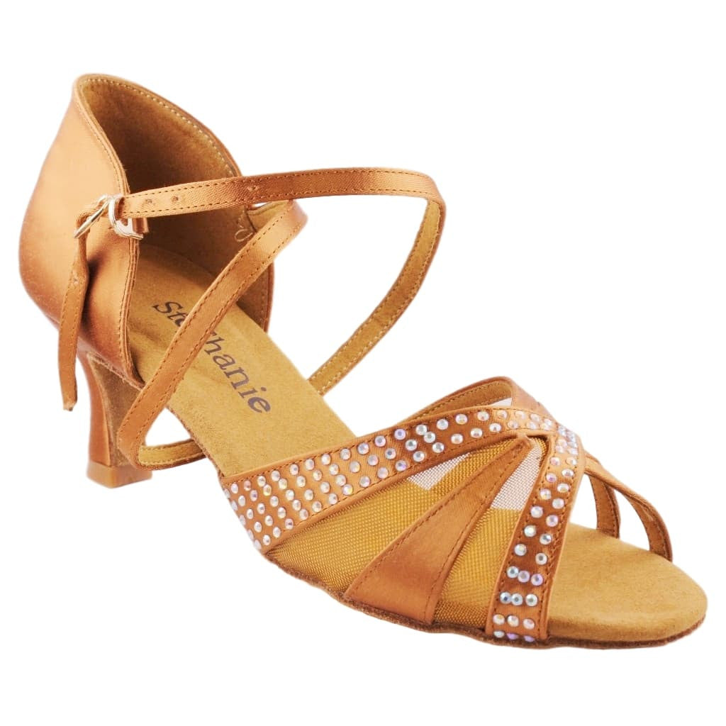 Latin Dance Shoes for Women, Model 2056-45, Heel 2""