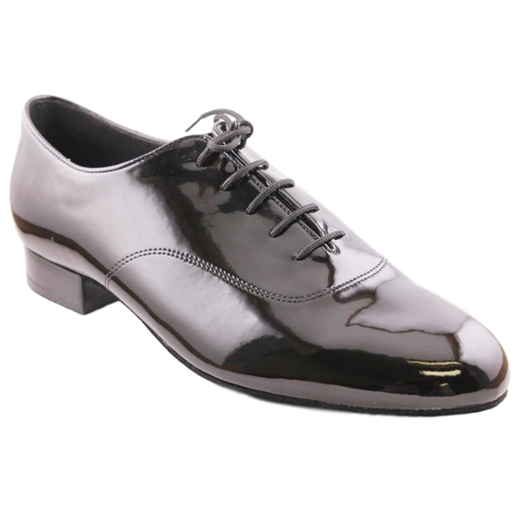 Supadance International Standard Dance Shoes for Men, Model 5000, Black Patent Leather