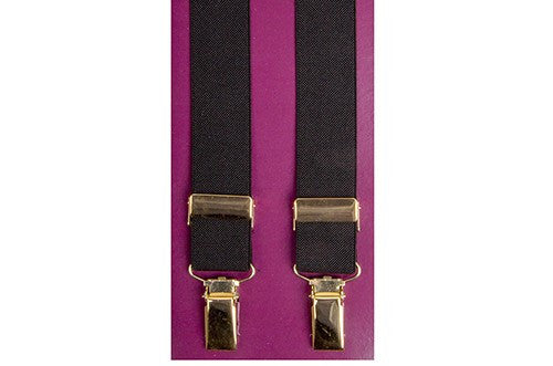 Gilt clip-on Suspenders 1 inch (25mm) 4700