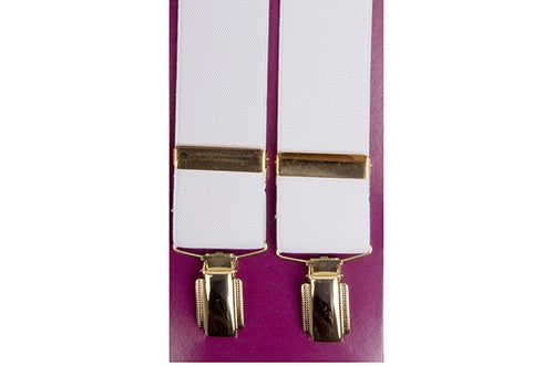 Luxury gilt clip-on Suspenders 1.5 inch (38mm) 4701
