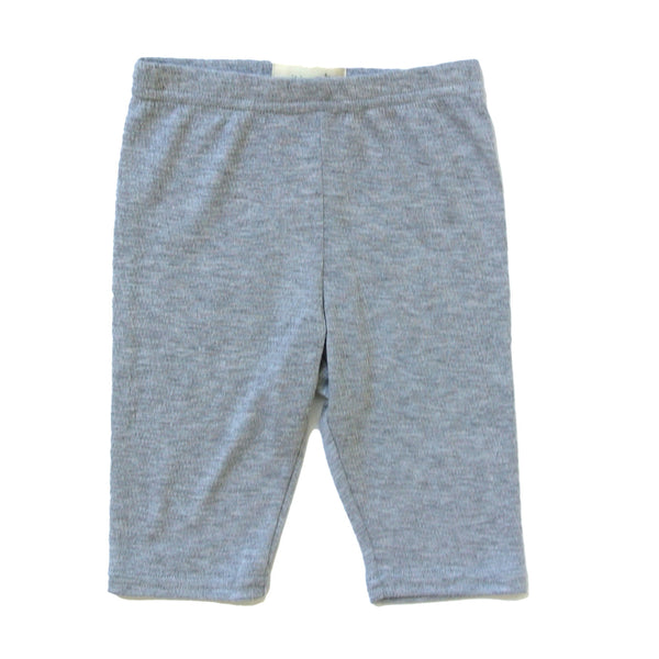Josie Crop Girl's Leggings in Light Grey