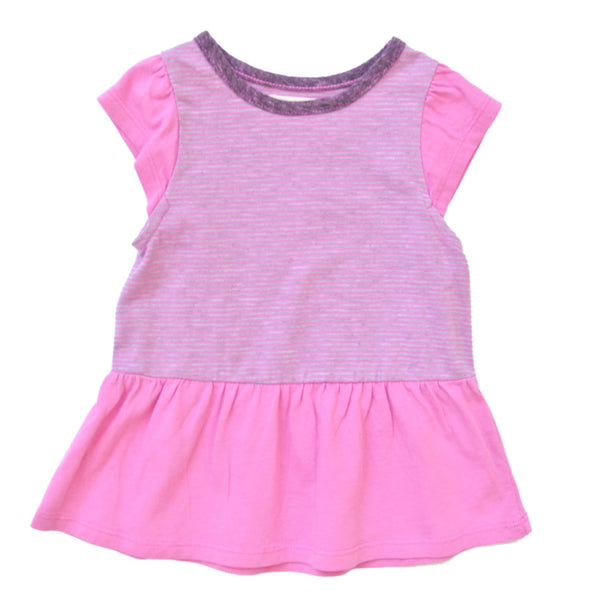 Girl's Peplum Top in Wild Orchid by Miki Miette