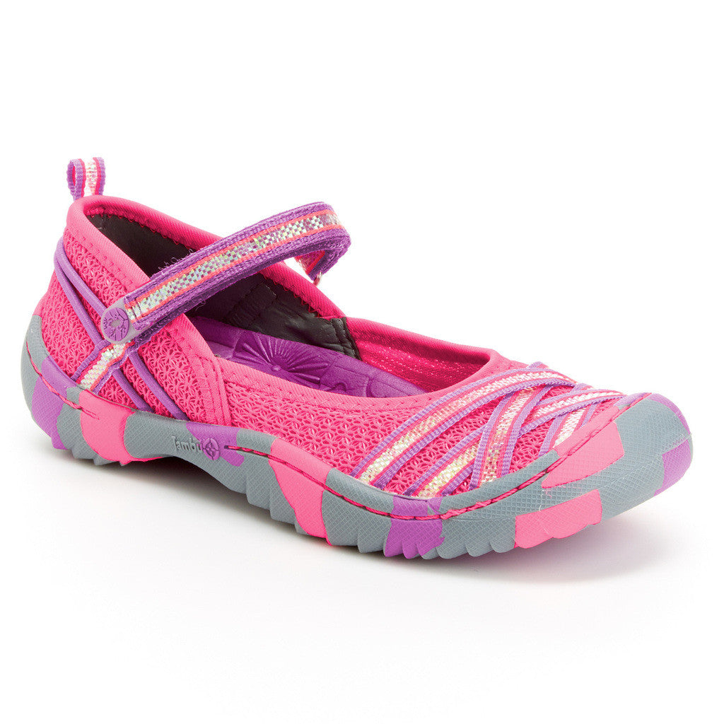 Girl's Fia Vegan Shoes in Pink/Purple by Jambu