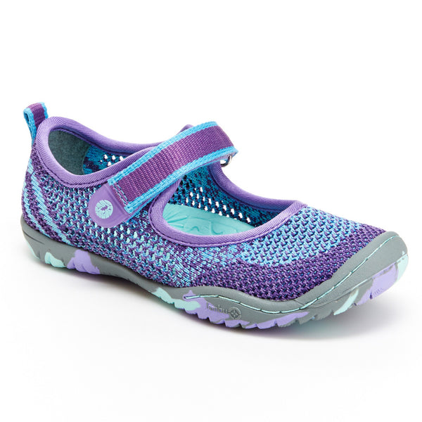 Girl's Sora Vegan Shoes in Aqua/Purple by Jambu