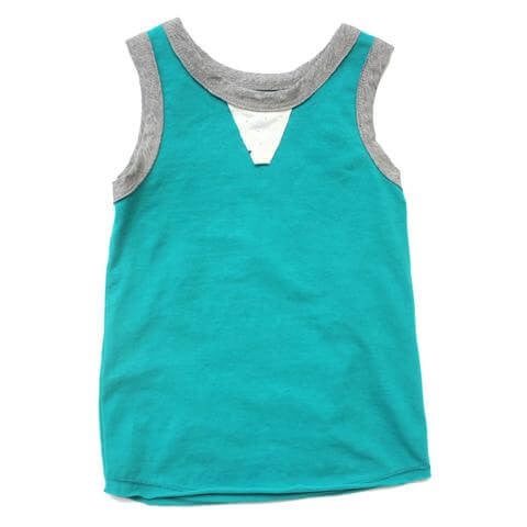 Boy's Ash Tank in Epic Aqua by Miki Miette