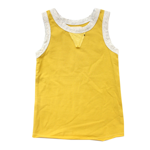 Boy's Ash Tank in Cowboy Yellow by Miki Miette