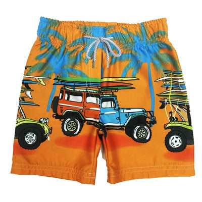 Boy's Swim Shorts Surf Car