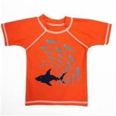 Boy's Sharks Rash Guard Sun Protection Shirt