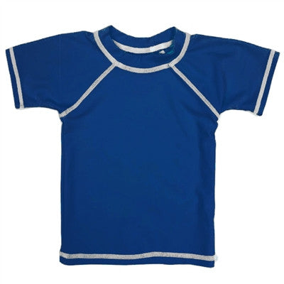 Boy's Rash Guard Sun Protection Shirt in Blue