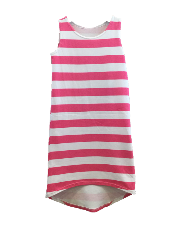 Girl's Maxi Dress Pink Stripe *Prime