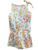Girl's Romper in White Flora Hand-Made in L.A. *Prime