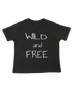 Unisex kid's wild and Free Tee by Banana & Bug for hipsters and outdoor kids