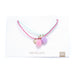 Star & Moon Rope Necklace Twin-Pack Pink and Mint Green