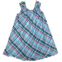 Summer Plaid Shift Dress Blue *Prime