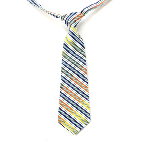 Boy's Multi-Stripe Necktie Multi Green