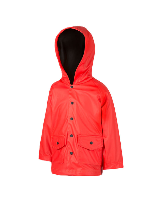 Children's Rain Coat Red and Black