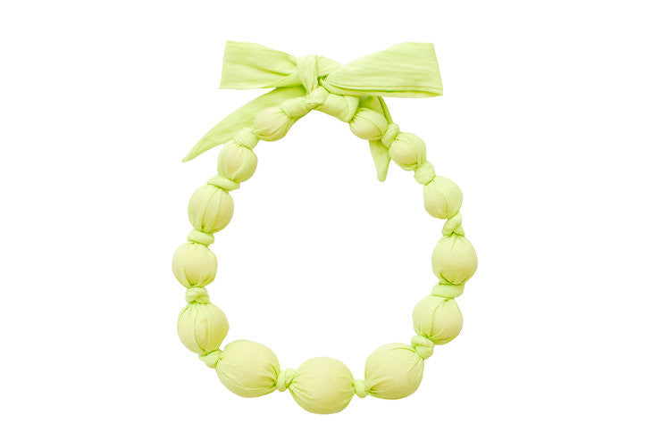 Wooden Bead Necklace in Limepop by Sophie Catalou