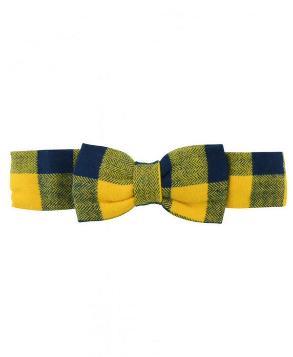 Navy and Mustard Buffalo Plaid Headband *Prime