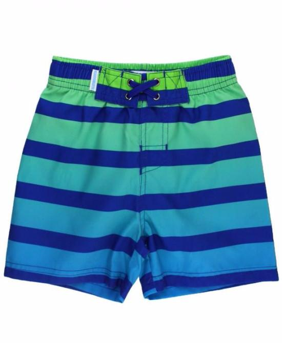 Boy's Swim Shorts in Coastal Ombre
