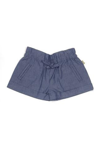 Nui Organics Girl's Lauren Shorts in Indigo