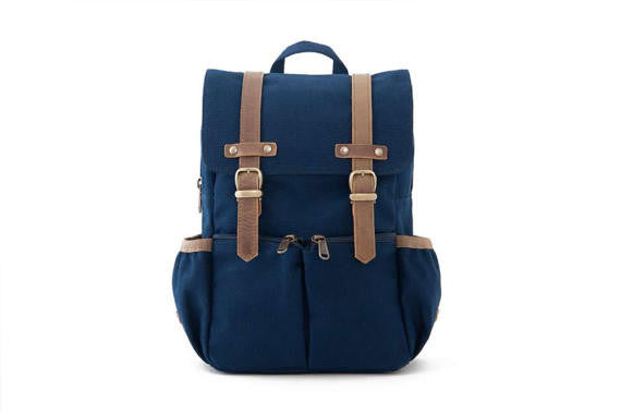 Kid's Canvas City Backpack in Navy by Oliday