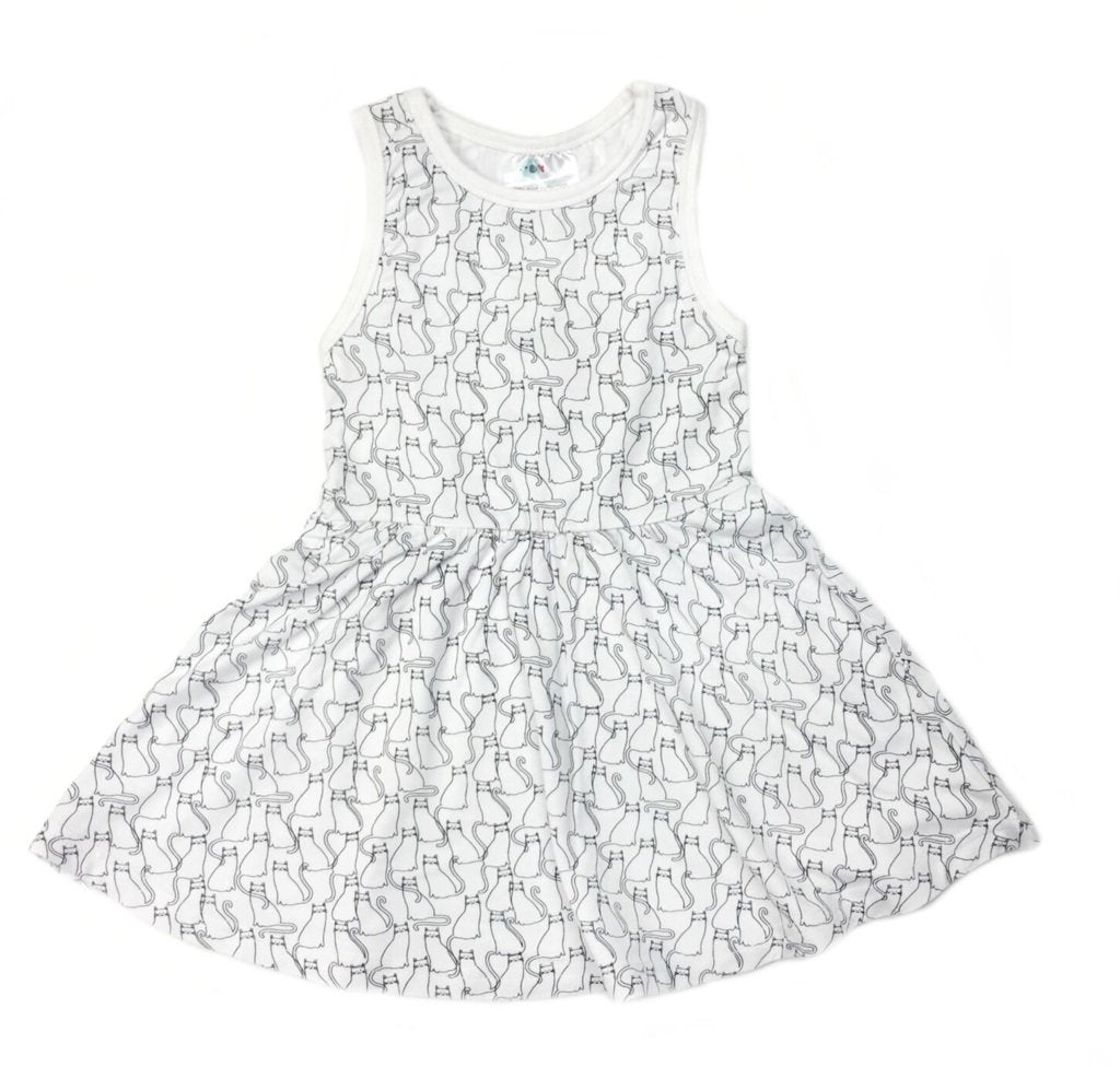 Kitty Print Tank Dress Organic *Prime