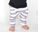 Harem Pants Boys and Girls Grey and White Stripe Little Foot Clothing Co. at Banana & Bug