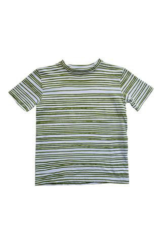 Organic Boy's T-Shirt - Green Tide by Nui Organics