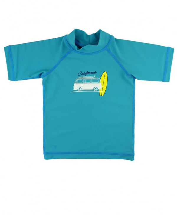 Blue California Surf Boy's Rash Guard Sun Protection Shirt *Prime