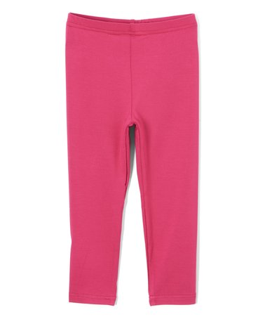 Organic Girl's Leggings in Fuchsia by Nohi Kids