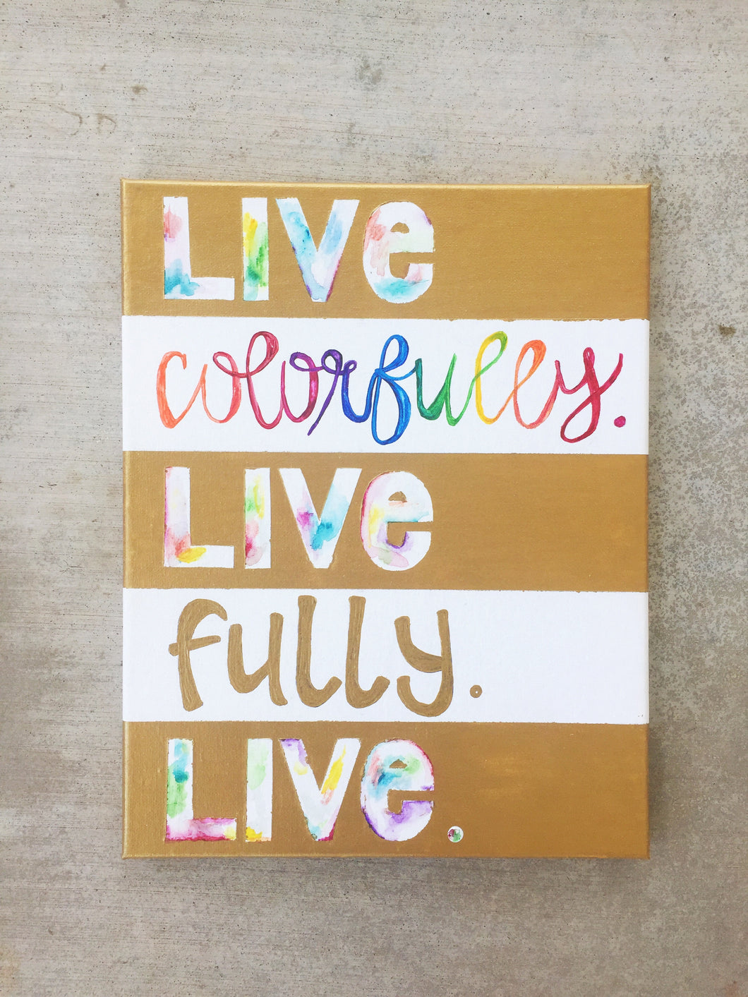 Live Colorfully Decor