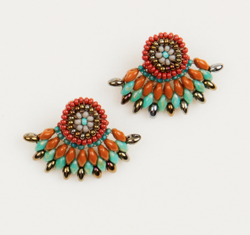 Fall Feather Studs