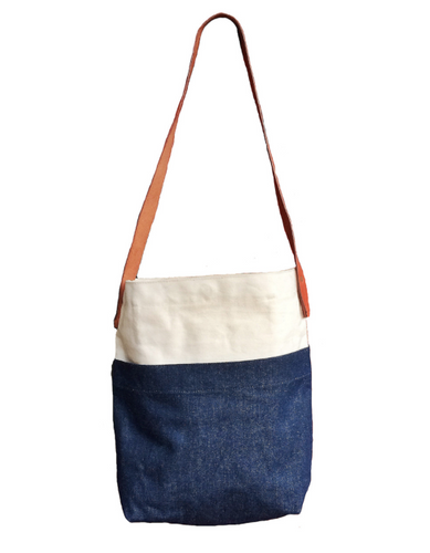Denim Bucket Tote
