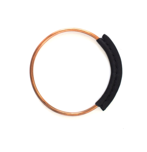 Copper Leather Bangle