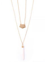 Pencil Bone Layered Necklace