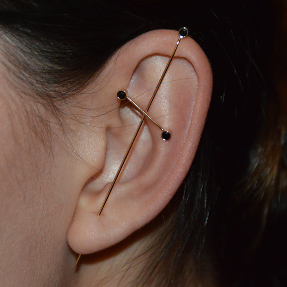 Three Pointer Needle Earring