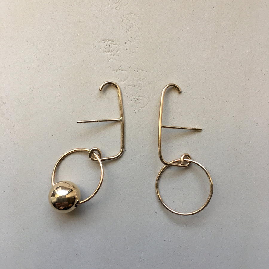 Roma Hoop Suspender Single Earring