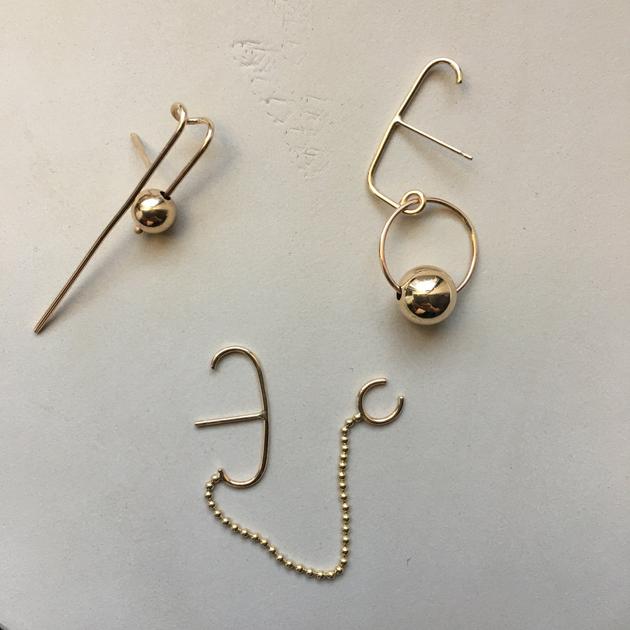 Rebel Chain and Cuff Suspender Single Earring