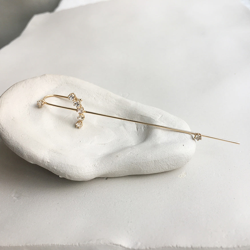 Magic Wand Needle Earring