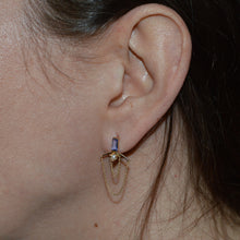 Princess First Tanzanite and Pearl Earrings