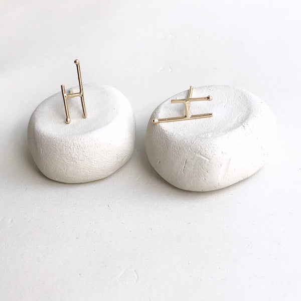 Simplicity Point Stud Earrings