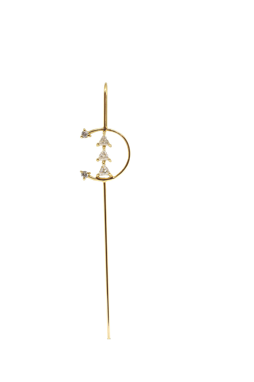 Sunrise Needle Earring