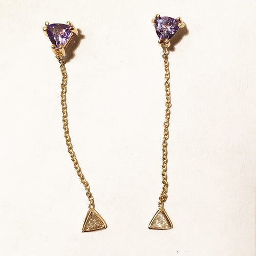 Tanzanite and Diamonds Twinkle Earrings