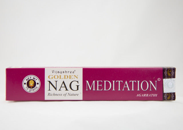 Golden Nag Meditation Incense Sticks 15g