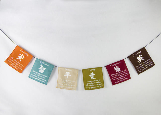 Prayer Flags Earth Tones (Small) 13.5cm x 14cm